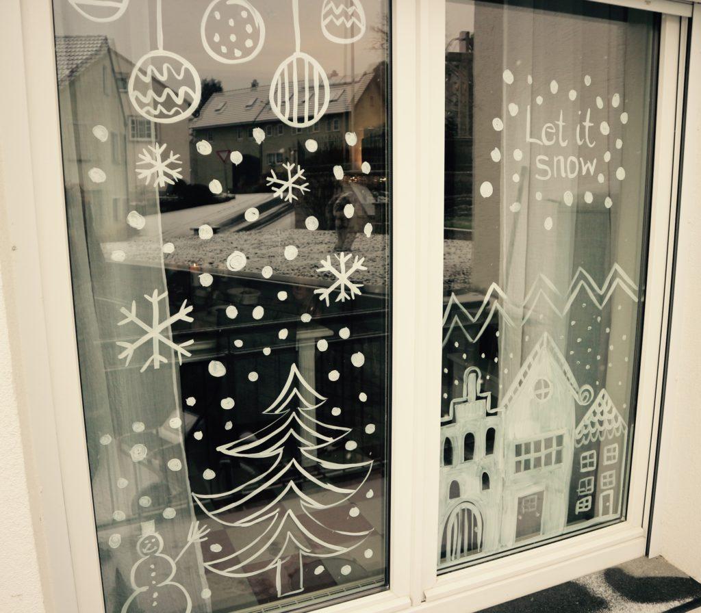 Advent fenster bemalen mit nat rlicher farbe besser - Fenster bemalen ...